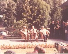 President Harry S. Truman with Prime Minister Winston Churchill and Premier Joseph Stalin at Potsdam, July 1945.