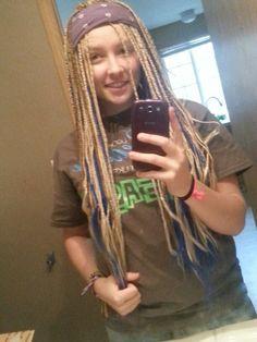 White girl with box braids. Self done. 5 packs of kanekelon hair. Follow me on instagram @tristen_aurora