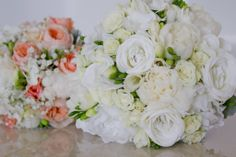 Romantic Creams and whites. Designed by Amour Flowers