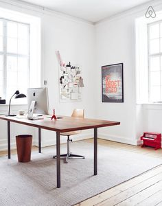 45 Best Inspiring Home Office Design Ideas Home Office Inspiration, Workspace Inspiration, Interior Inspiration, Workspace Design, Home Office Design, Home Office Decor, Home Decor, Big Desk, Creative Office Space