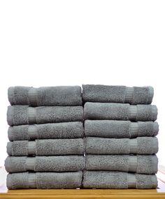 Gray Luxury Washcloth - Set of 12