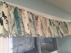 Fabric Rag Valance Curtain for Playroom