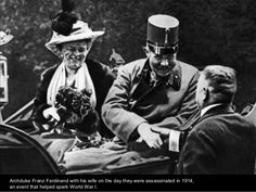 Archduke Franz Ferdinand and his wife the day they were assassinated in 1914