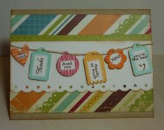 Crafting with Katie: Banner Thank You beautiful card to say thank you