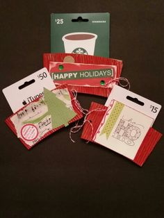 My upcycled coffee cup wrappers cardholders