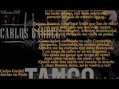 Carlos Gardel - Anclao En Paris Letra - YouTube