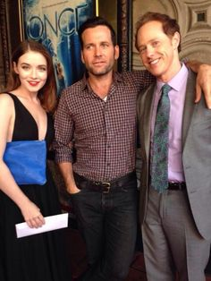Sarah Bolger, Eion Bailey and Raphael SBarge at OUAT premiere Once Cast, It Cast, Eion Bailey, Sarah Bolger, Abc Tv Shows, Robert Carlyle, Outlaw Queen, Colin O'donoghue, Red Carpet Event