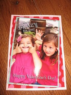 I don't send out Valentine's cards, but my kids would love making this one!