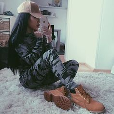 Loungewear set from Tumblr Fashion, Fashion Killa, Urban Fashion, Fashion Quotes, Dope Outfits, Classy Outfits, Fashion Outfits, Fashion Hats, Fashion Accessories