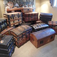 A Basement Trunk Collection and link to trunk collctors site
