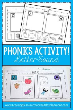 Letter Sound Activity for learning phonics in preschool and kindergarten! Easy activity for morning work, literacy centers, table time and more! #lettersound #phonics #preschoolphonics #kindergartenphonics #tpt #teacherspayteachers #literacycenter #literacy #noprepworksheet #learningresources