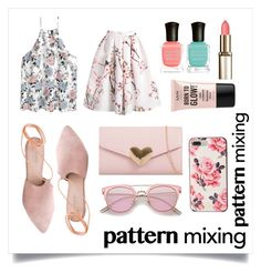 """""""Floral Clash in pastel PINK"""" by fluffyflavi on Polyvore featuring Summit, Kate Spade, Deborah Lippmann and NYX"""