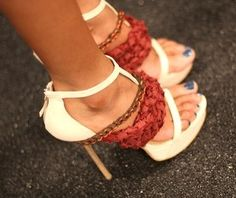 8c47f36d3802 mmmmm open toes and bling too!