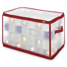 HomeCrate Frosted Seethrough Christmas Ornament Storage Box 112 Compartments ** Check out this great product. Christmas Ornament Storage, Ornament Storage Box, Wreath Storage, Holiday Storage, Christmas Decorations, Christmas Lights, Cube Storage, Storage Boxes, Storage Organization