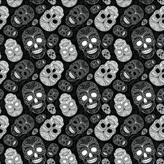 Skull Paisley fabric by sugarxvice on Spoonflower - custom fabric