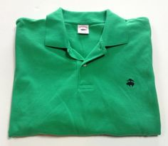 BROOKS BROTHERS Men's Short Sleeve Polo Shirt XL Extra Large Green