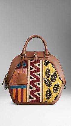 The Medium Orchard in Tapestry and Leather | Burberry