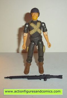Hasbro toys G I JOE vintage gijoe action figures for sale to buy 1982 ROCK N ROLL (straight arm original version) includes: machine gun, helmet condition: overall excellent with nice paint, nice joint