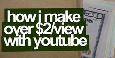 How I Make Money With YouTube (And Earn Over $2/View!) http://ift.tt/2qiRTzO