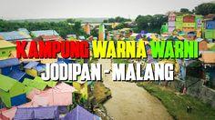 Kampung Warna Warni Jodipan Malang - Tempat wisata teranyar Kota Malang yang sangat menarik perhatian para wisatawan dari berbagai daerah. Lokasinya bersebelahan dengan Kampung Tridi (3D) Malang.