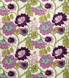 Home Decor Print Fabric. Eaton Square Chamberlin-Mulberry Floral.