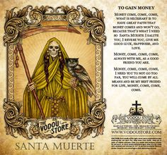 Candle Label - Santa Muerte (LGBT) I'm so grateful to The Vodou Store for making these labels and prayer cards available, showing the diversity of our Godmother. Magick, Witchcraft, Wiccan, Santa Muerte Prayer, Orishas Yoruba, Yellow Candles, Candle Labels, Prayer Cards, Book Of Shadows