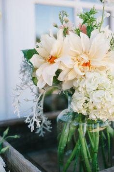 dahlias + hydrangeas Photography by Pictilio / pictilio.com, Floral Design by Twig and Petals / twigandpetals.com/