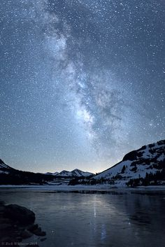 Milky Way Reflected in Tioga Lake by Rick Whitacre © Attribution-NonCommercial-NoDerivs License