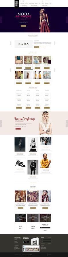 Fashion portal web design by Oblicze.pl www.oblicze.pl, via Behance Latest News & Trends on #webdesign and #webdevelopment | http://webworksagency.com
