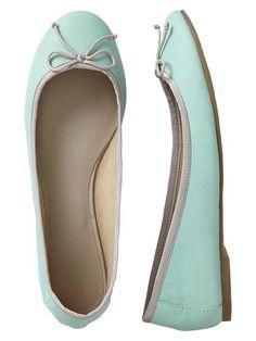 Gap, Classic Ballet Flats, Surf Blue