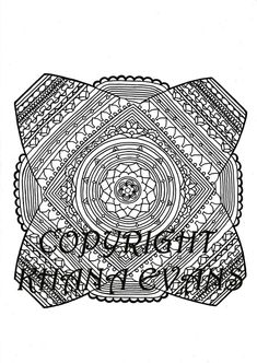 PDF A4 Printout Sophies Universe Blanket Colouring In Design Sheet