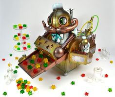 A Steampunk Robot Candy Factory by Doktor A, for Monsters & Misfits II