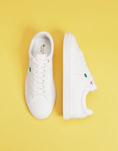 Sneakers with embroidered pineapple detail - Bershka  fashion  product   shoes  zapatos   cb26c790901