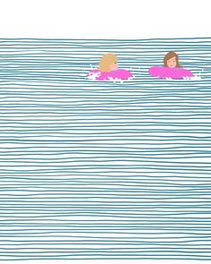 // Fun with floaties at Weekapaug Beach. //
