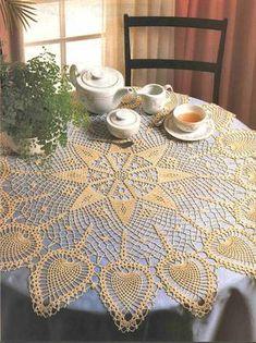Crochet Knitting Handicraft: napkins new 6 Crochet Doily Patterns, Crochet Chart, Filet Crochet, Crochet Doilies, Crochet Books, Crochet Home, Thread Crochet, Crochet Table Runner, Crochet Tablecloth