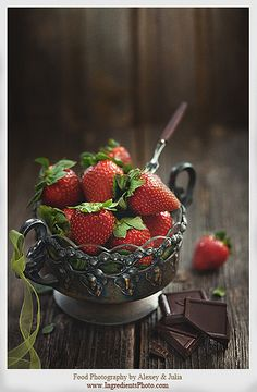 Strawberry and Chocolate   da Food Photography and Portraiture by Alexey & Julia