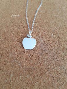 Apple necklace Teacher gift Gift for teacher by flowerpecker