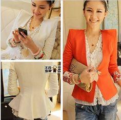 Women's autumn women's shoulder pads slim suit blazer outerwear female  pink blaser US $41.86