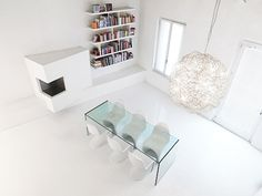 minimalist and modern loft interior design 3 White Loft in Italy