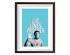 Quadro Vida Longa e Prospera Sr. Spock