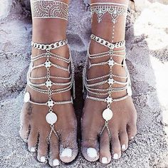 Jewelry & Accessories Anklets Self-Conscious Qevila Hot Anklet For Women Foot Jewelry Summer Beach Crochet Black Ankle Bracelet Sandal On Leg Female Bohemian Accessory Boho Elegant In Smell