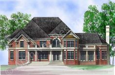 Galloway II - House Plan - Daylight Basement - Front Rendering