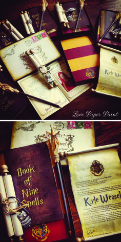 Harry Potter themed party Invitations by Love Paper Paint  #harrypotterinvitations