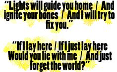Coldplay - Fix you   Snowpatrol - Chasing cars