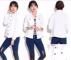 Fashionlicious - woman clothes: JJill White Denim Jacket