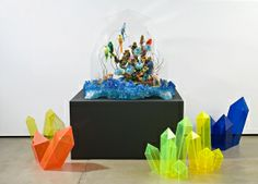 Kate Rohde - Crystallised Menagerie (installation view), mixed media. 120 x 120 x 85 cm. 2009