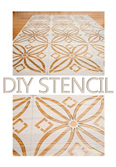 How to make a stencil - seriously, who even needs to buy one, if it's cheaper and more satisfying to DIY?