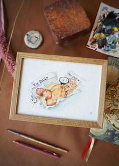 Håndmalede akvareller af Joanna Jensen. Frame, Home Decor, Kunst, Picture Frame, Decoration Home, Room Decor, Frames, Home Interior Design, Home Decoration