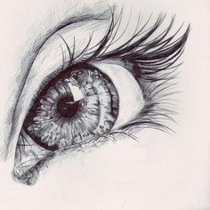 eye sketch - I'd have a whole wall of Eye art! Amazing Drawings, Beautiful Drawings, Cool Drawings, Beautiful Eyes, Pretty Eyes, Hipster Drawings, Amazing Artwork, Beautiful Girl Drawing, Amazing Sketches