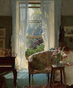 Interior.  George Clausen  Aesthetics of Windows
